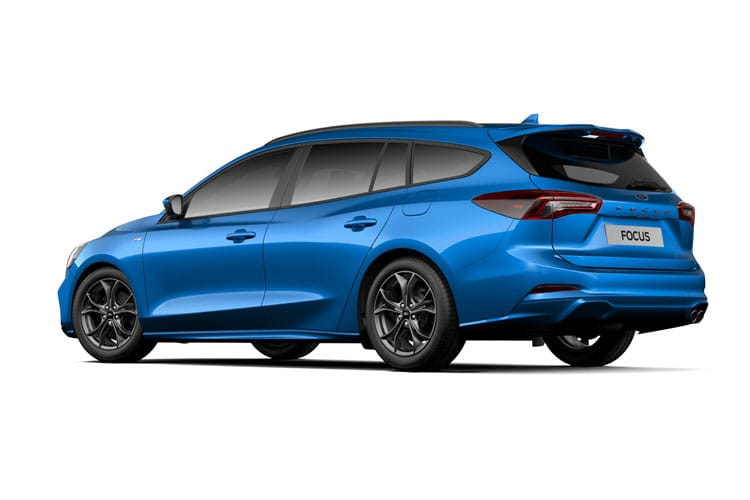 Ford Focus Estate 1.0 T EcoBoost MHEV 155PS Titanium Edition 5Dr Manual [Start Stop] back view