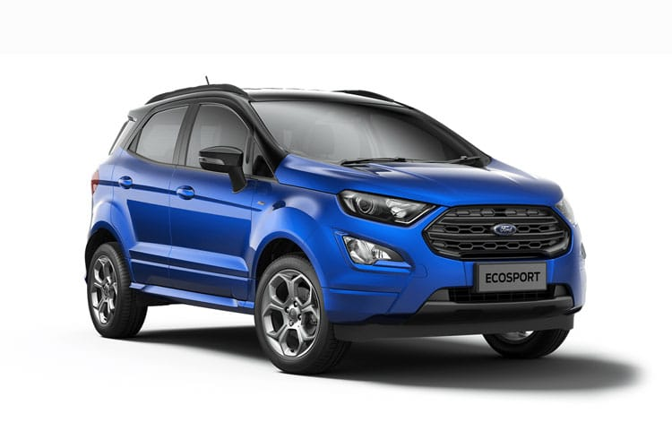 Ford EcoSport SUV 2WD 1.0 T EcoBoost 140PS ST-Line Black 5Dr Manual [Start Stop] [X Pack] front view
